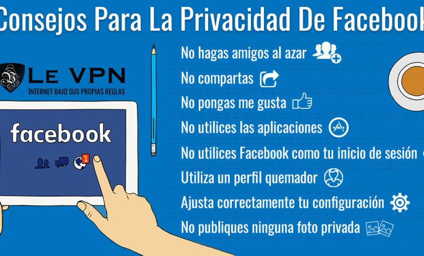Cómo tener seguridad web en Facebook Live.   Le VPN