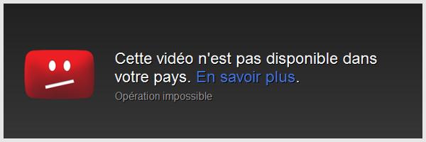 Cette vidéo n'est pas disponible dans votre pays