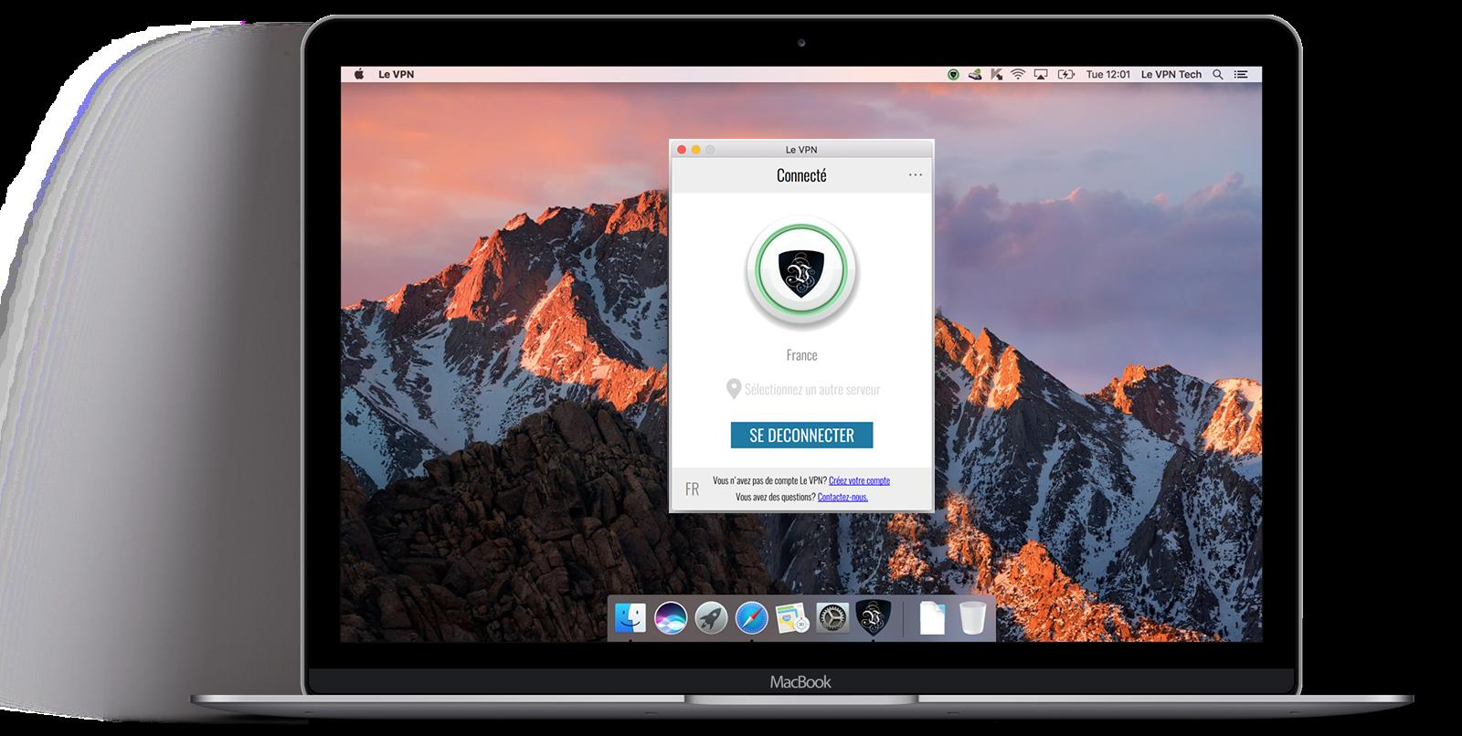 Le VPN lance l'application VPN mac OS, un logiciel VPN sur mesure pour ordinateurs Mac | application VPN iOS | appli VPN iOS