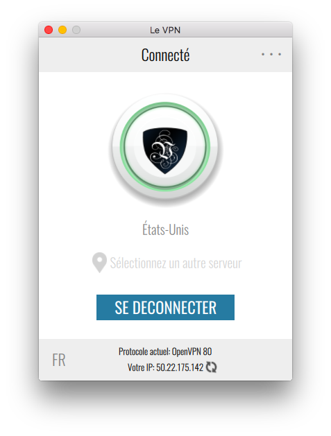 Le VPN app   connexion USA