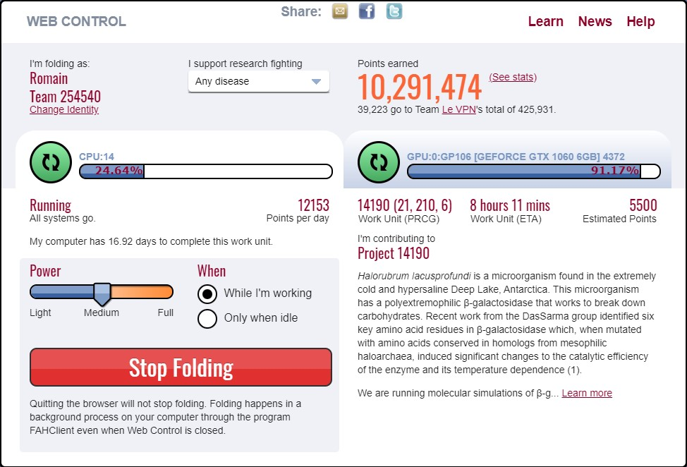 Lutter contre le Covid-19 en ligne grâce à Folding@Home.| Le VPN