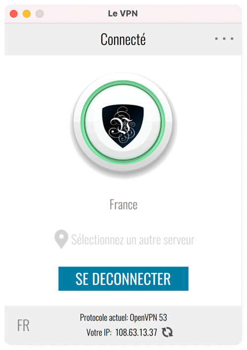 You are now connected to Le VPN