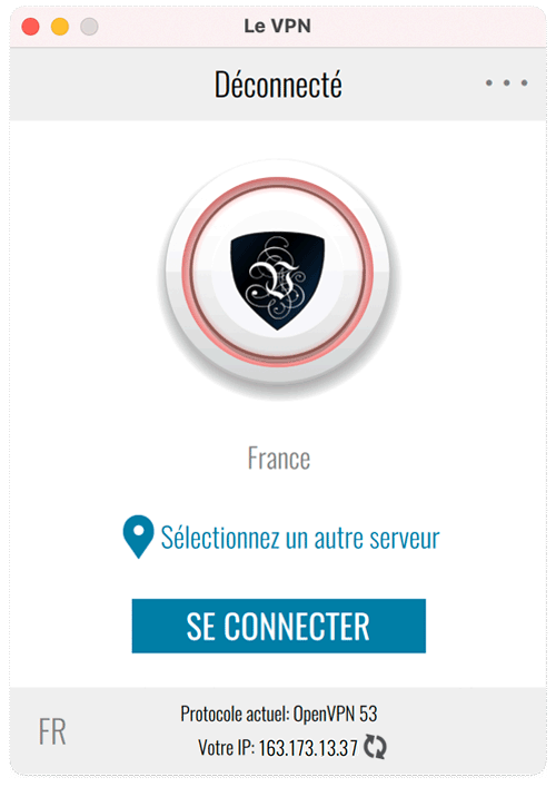 Select Le VPN server and connect