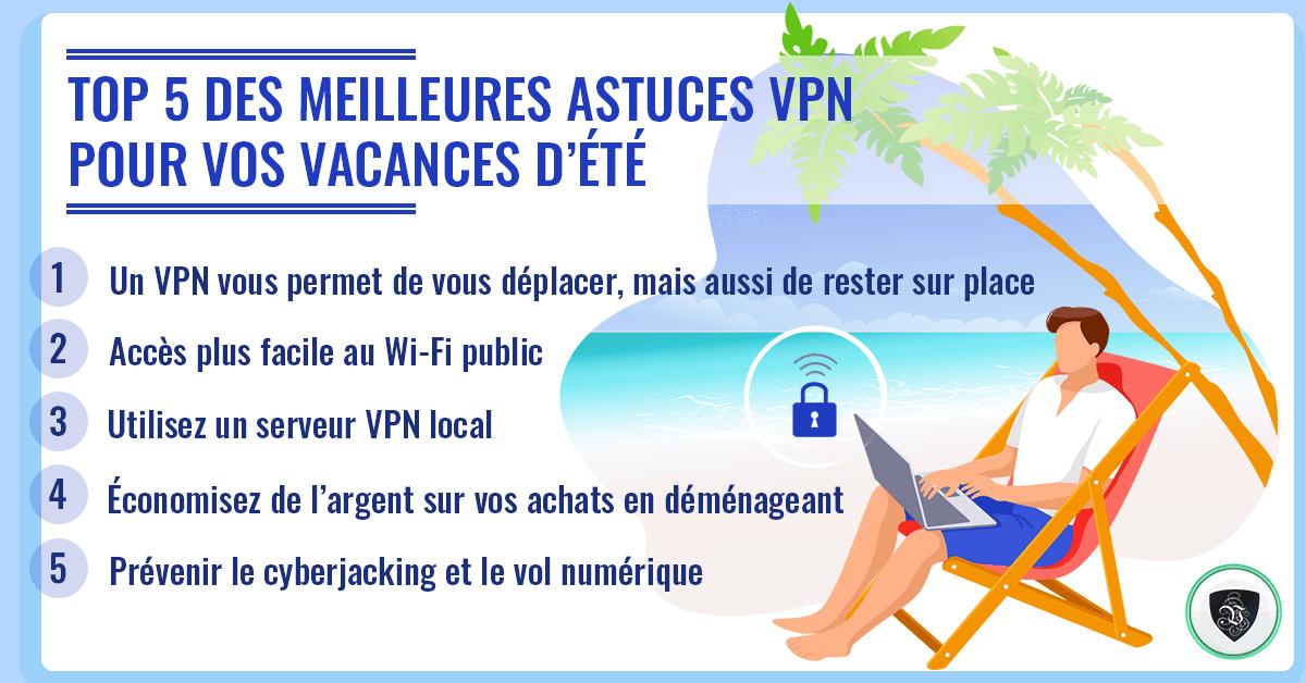 Top 5 des meilleures astuces VPN pour vos vacances d'été. | Le VPN