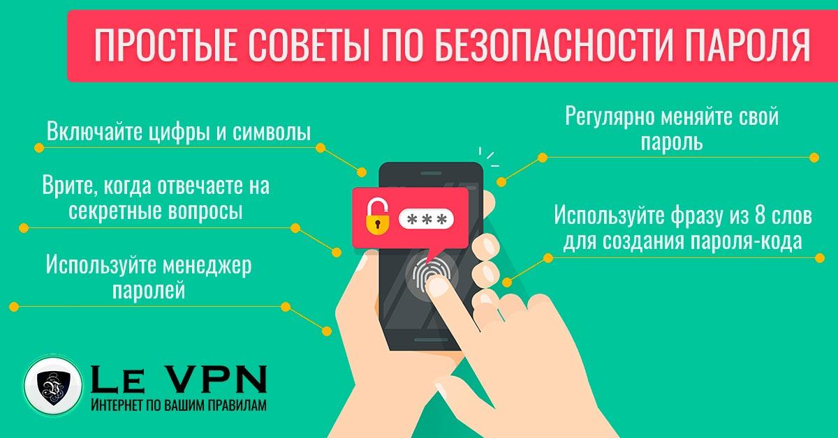 Несколько простых советов по безопасности пароля | безопасность пароля | безопасный пароль | ВПН | Le VPN