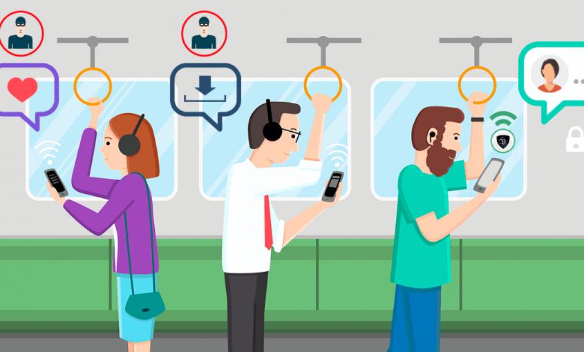 Киберзащита в сетях WiFi обеспечивается использованием профессиональной VPN, которая зашифрует все ваши личные данные и важную информацию.   Le VPN