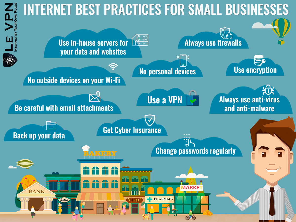 Internet Best Practices For Small Businesses for Cybersecurity Threats   online VPN services for small businesses   how to protect your small business from cyberthreats   Le VPN