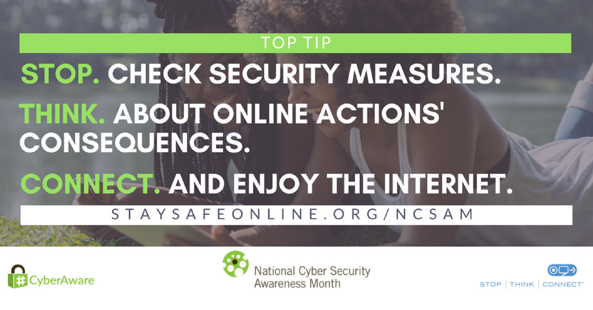 Cyber Security Awareness Month – Week 1