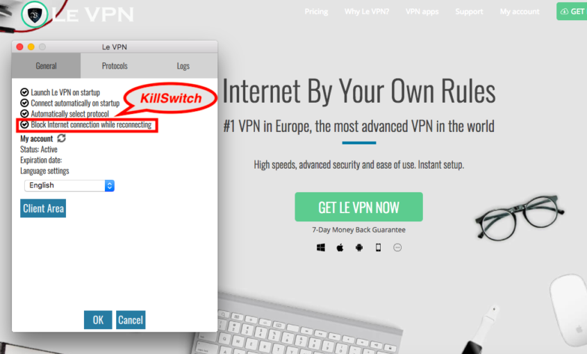 VPN Kill Switch: what is Kill Switch and why only use VPN with kill switch function? All you need to know about VPN Kill Switch: What is Kill Switch? Why only use VPN with kill switch function & where to find it in Le VPN app?   Le VPN