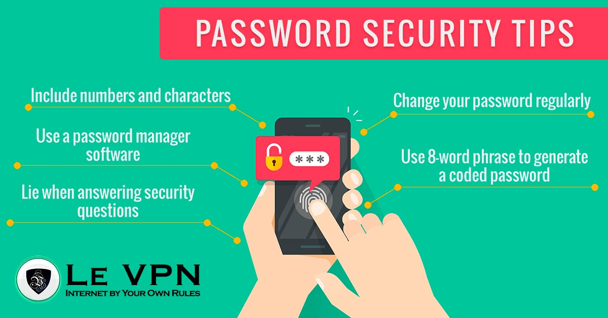 Password security tips   network security   password security   Le VPN