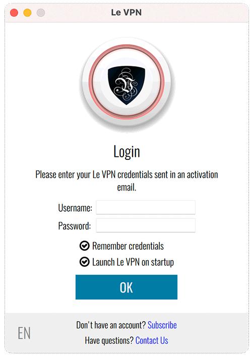 Le VPN login on macOS